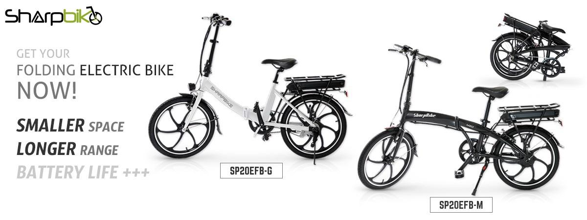 sharpbike folding electric bicycle