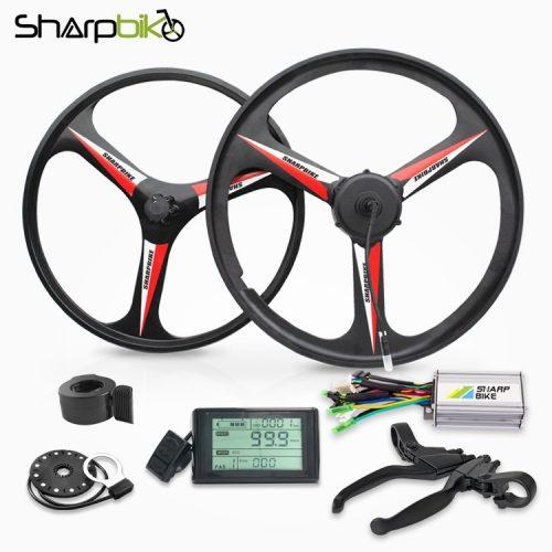 sharpbike-26-inch-black-magnesium-motor-wheel-kit