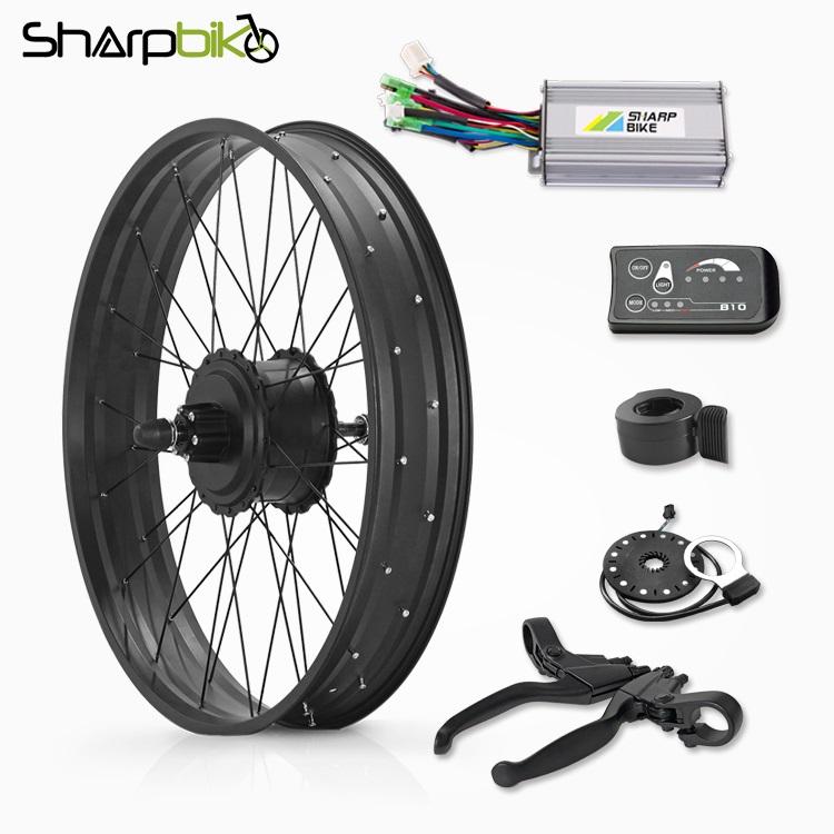 SKF03E810-20-inch-26-inch-fat-tire-electric-bike-gear-motor-kit