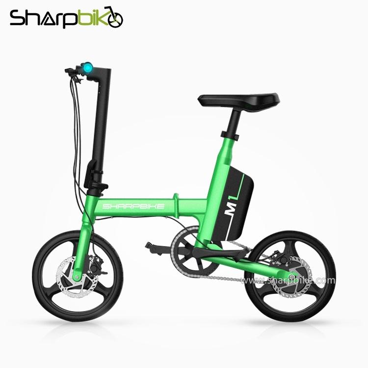 SP14EFB-M1-green-smart-folding-e-bike