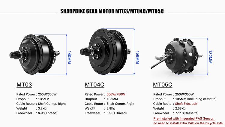 Sharpbike-electric-bike-brushless-gear-motors