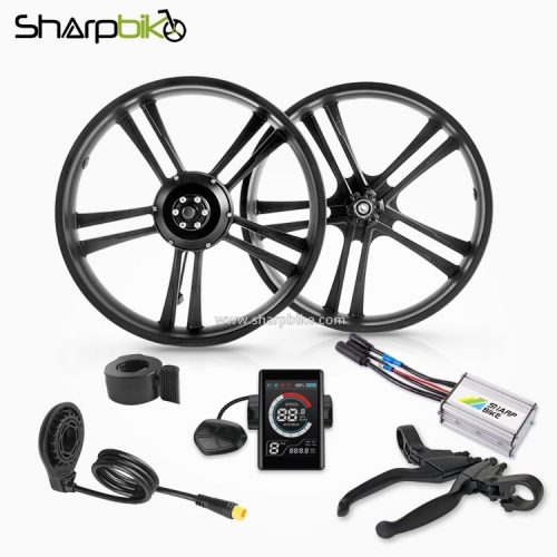 SKF04S2-sharpbike-20-inch-fat-tire-electric-bike-hub-motor-kit-with-colorful-display