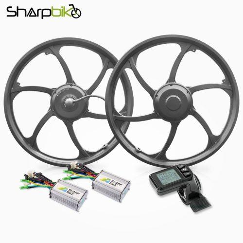SK921D-sharpbike-20-inch-single-shaft-hub-motor-wheel-dual-drive-motor